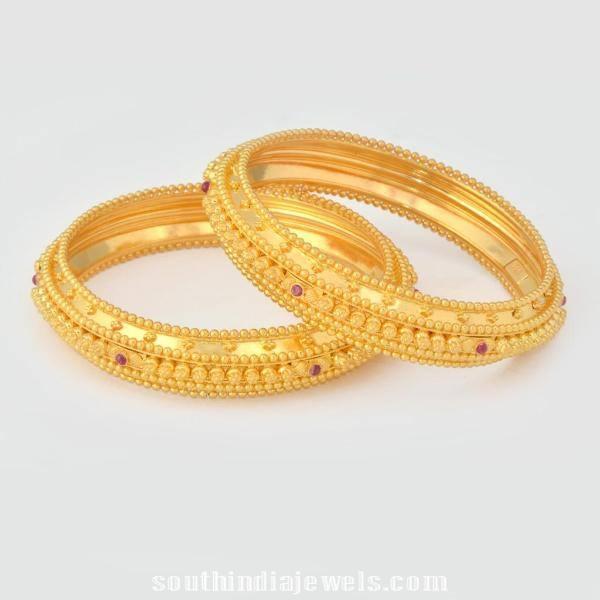 22K Gold Bangle Latest Model ~ South India Jewels