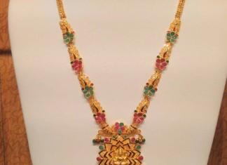 22k Gold bridal Lakshmi Haram design