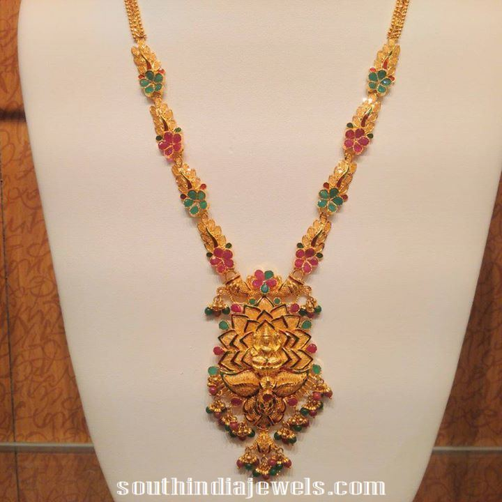 22k Gold bridal Lakshmi Haram design