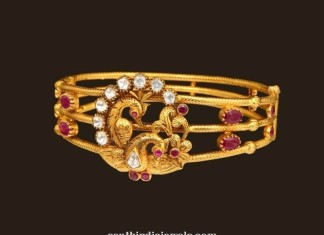 Gold Peacock bracelet from VBJ
