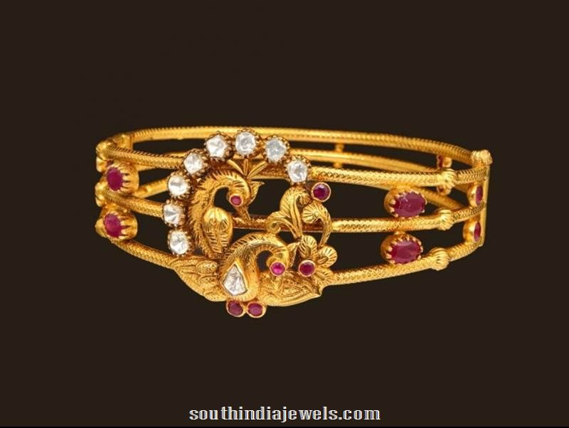 Gold Peacock bracelet from VBJ