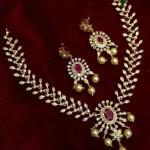 Cross Cut Ruby Necklace Model