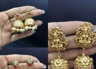 Imitation Antique Matt Finish Jhumkas with price