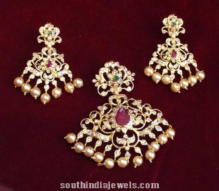 Imitation cz stone pendant designs south india jewels imitation cz stone pendant designs 2015 aloadofball Choice Image