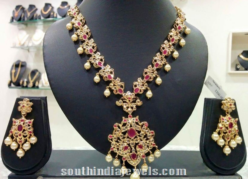 Imitation CZ Stone Ruby necklace