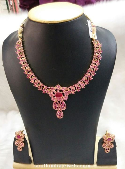 Latest Imitation Ruby Necklace Model