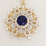 Diamond Sapphire Pendant Design