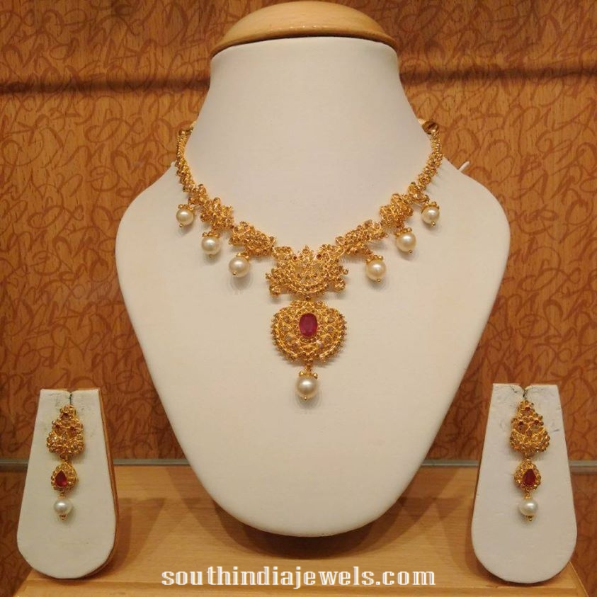 light weight necklaces necklace simple jewellery and gold diamond designs weighted