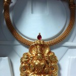 Temple Necklace with Lakshmi Pendant