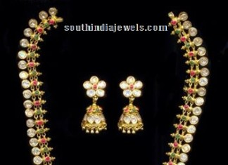 Traditional 22k gold harams with jhumkas