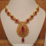 Light Weight Ruby Necklace