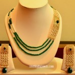 14K Gold Beaded Designer Necklace