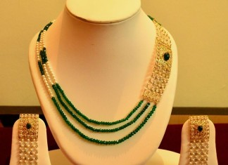 14K Gold Mutilayer designer beaded necklace
