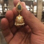 Gold Emerald Jhumka