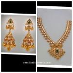 Pachi Mango Necklace and Jhumka