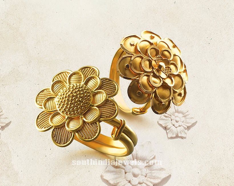 22K Gold Adjustable Rings from Tanishq South India Jewels