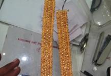 22k gold anklet latest design