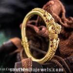 Gold Kada Bangle From C Krishniah Chetty Sons