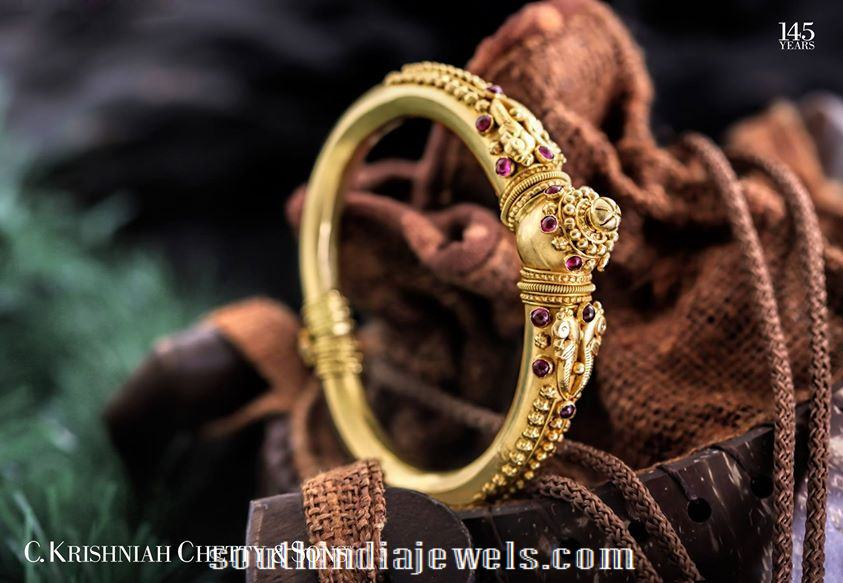 22k gold kada bangke from C Krishniah Chetty Sons