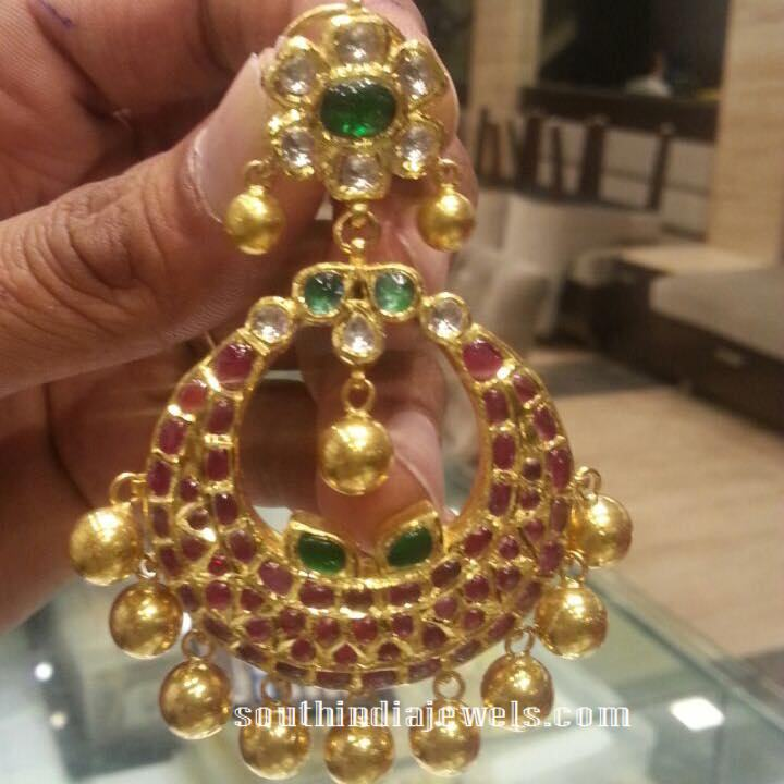 52 grams designer ruby chandbali