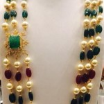 Three Layer Pearls Emerald Mala