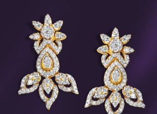 Gold Diamond Earrings from GRT Jewellers