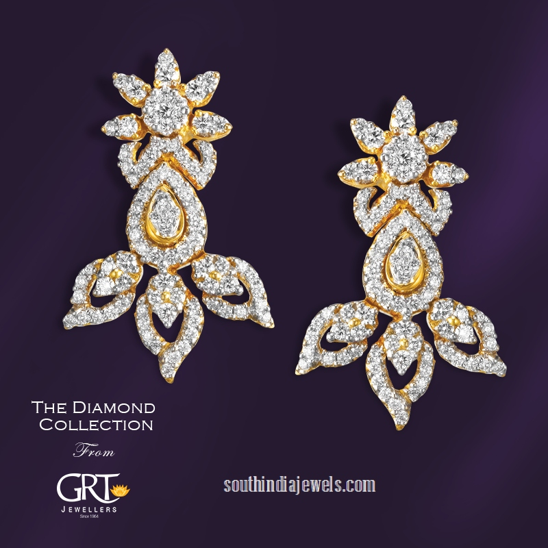 Gold Diamond Earrings from GRT Jewellers