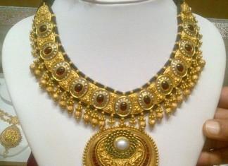 Designer Kundan Necklace latest model 2015