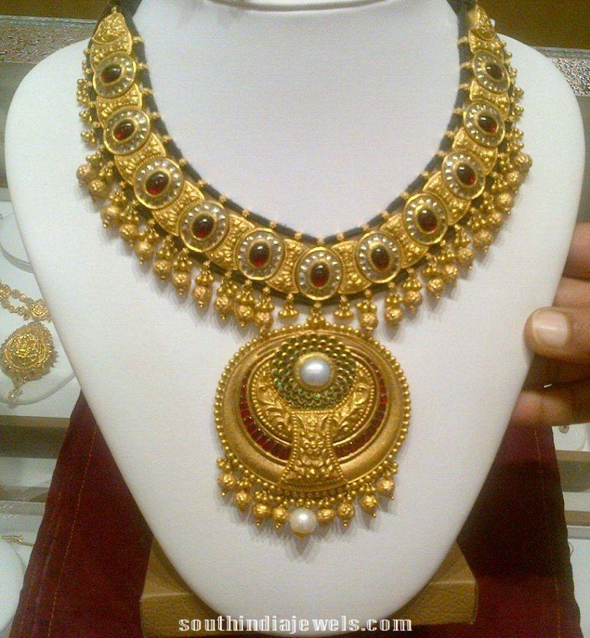 Designer Kundan Necklace ~ South India Jewels