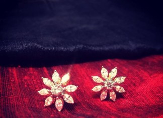 Diamond ear studs designs