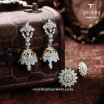 Diamond Jhumka and Earrings From Tanishq