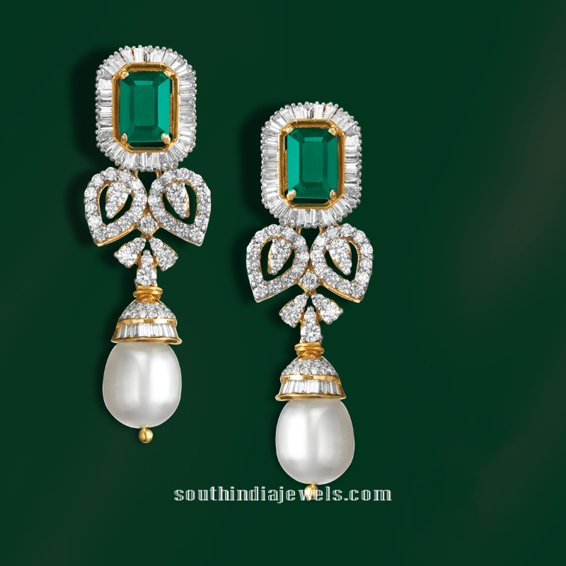 Diamond Emerald Earrings from GRT Jewellers