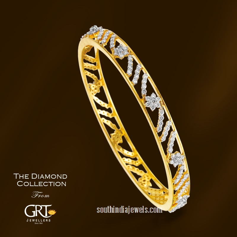 Designer diamond bangles from GRT Jewellers