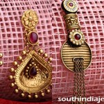 Gold Antique Earrings from Kalyan Jewellers