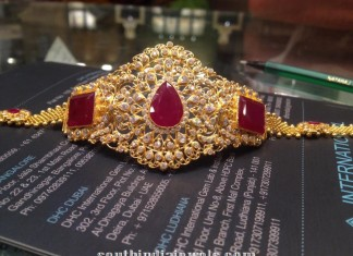 Gold Ruby Arm Band Model