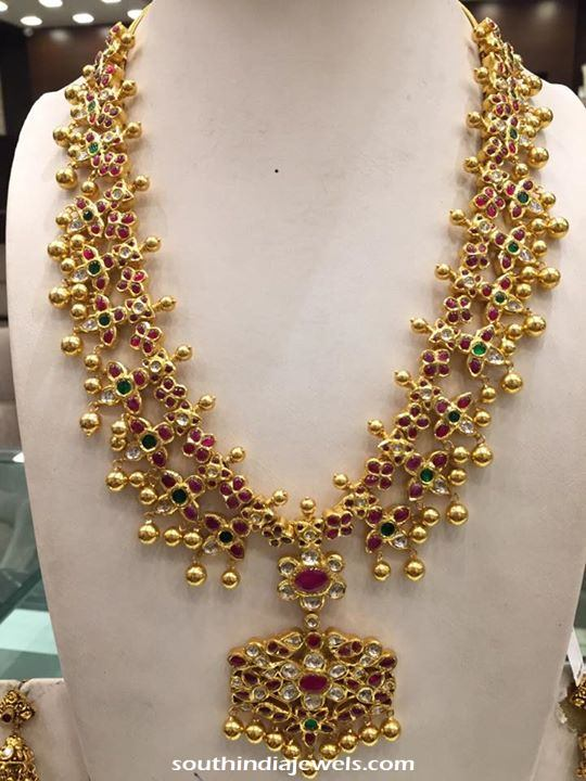 weight necklace details south india latest antique gold model jewels with attigai