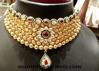 Gold Kundan Choker Necklace Latest Model 2015