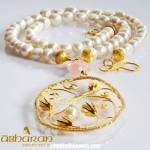 Gold Pearl Necklace from Abharan Jewellers