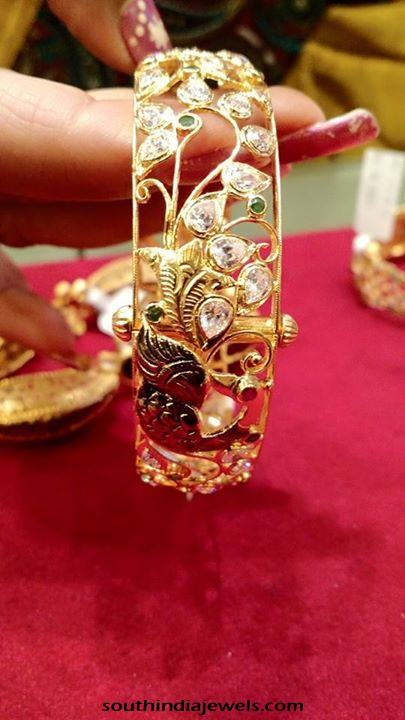 Gold Designer Bangles with screw adjustments