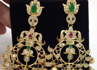Imitation CZ Stone earrings latest design 2015