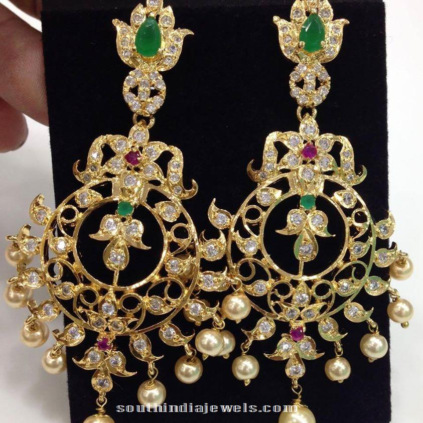 Imitation Cz Stone Earrings Latest Design 2017