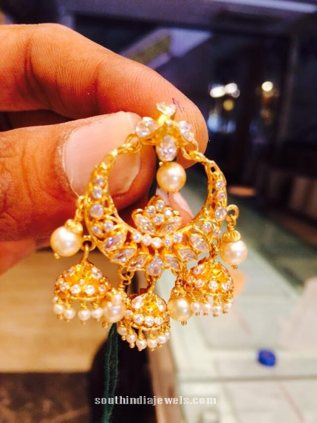 Indian jewellery designs pearl chandbalis