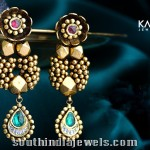 Kalyan Jewellers Antique Designer Earrings