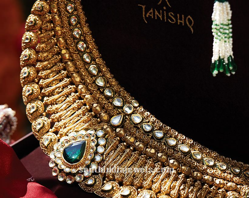 Kundan Bridal Choker Necklace From Tanishq