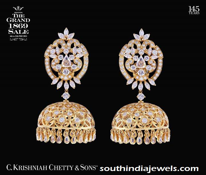 Diamond Jhumkas form  C Krishniah chety sons