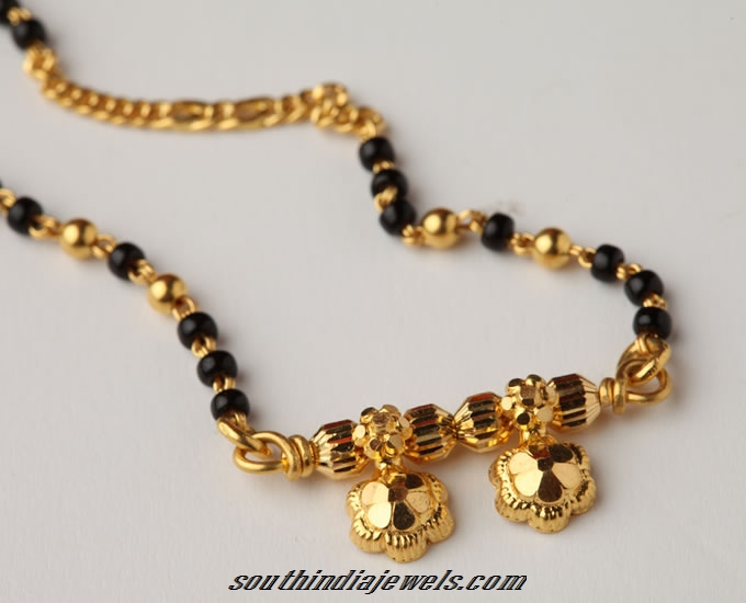 Gold Mangalsutra design from PNG Jewellers