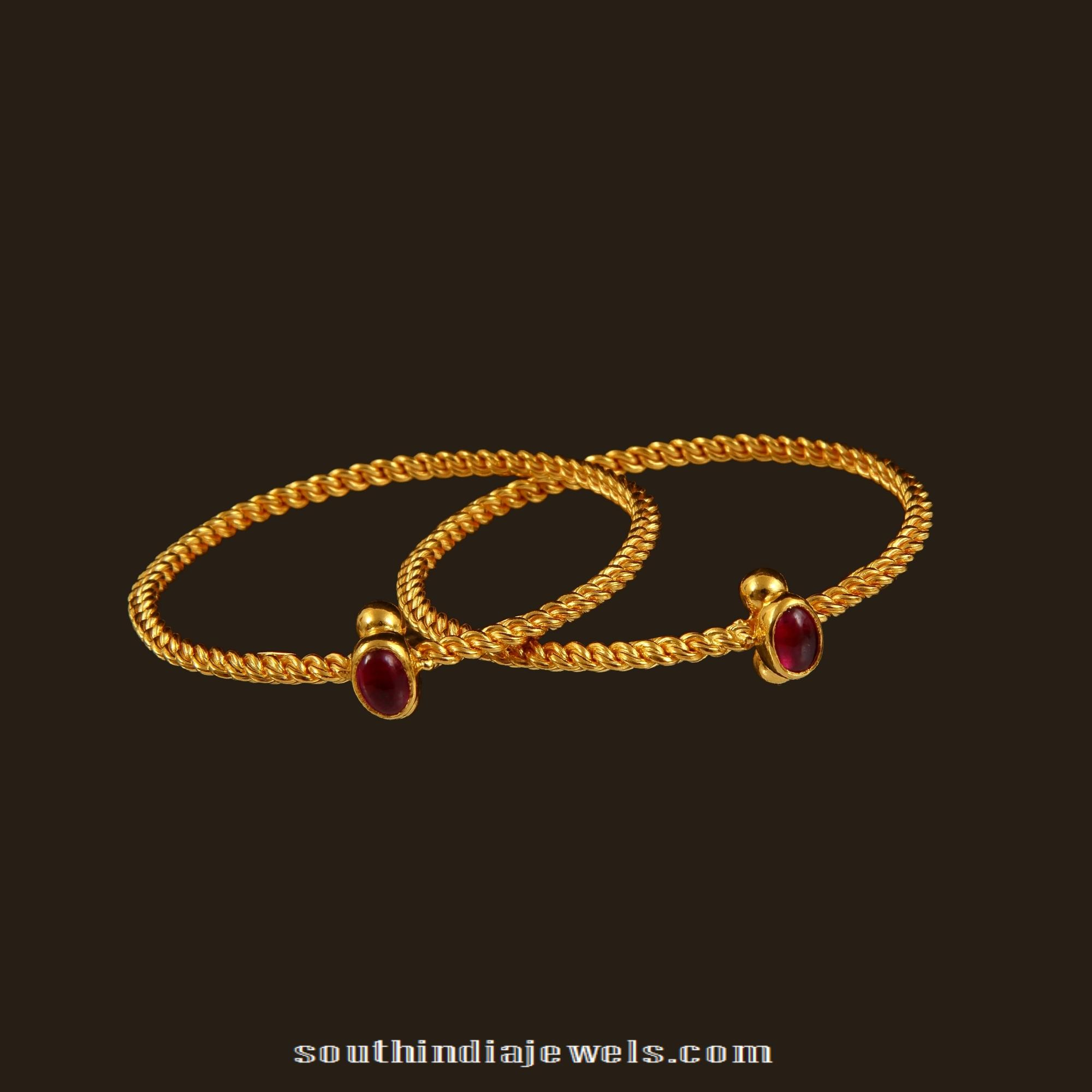 Gold Baby Bangles From Vbj South India Jewels