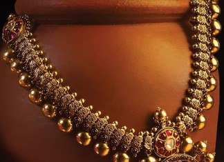 Antique gold ruby necklace JCS creations