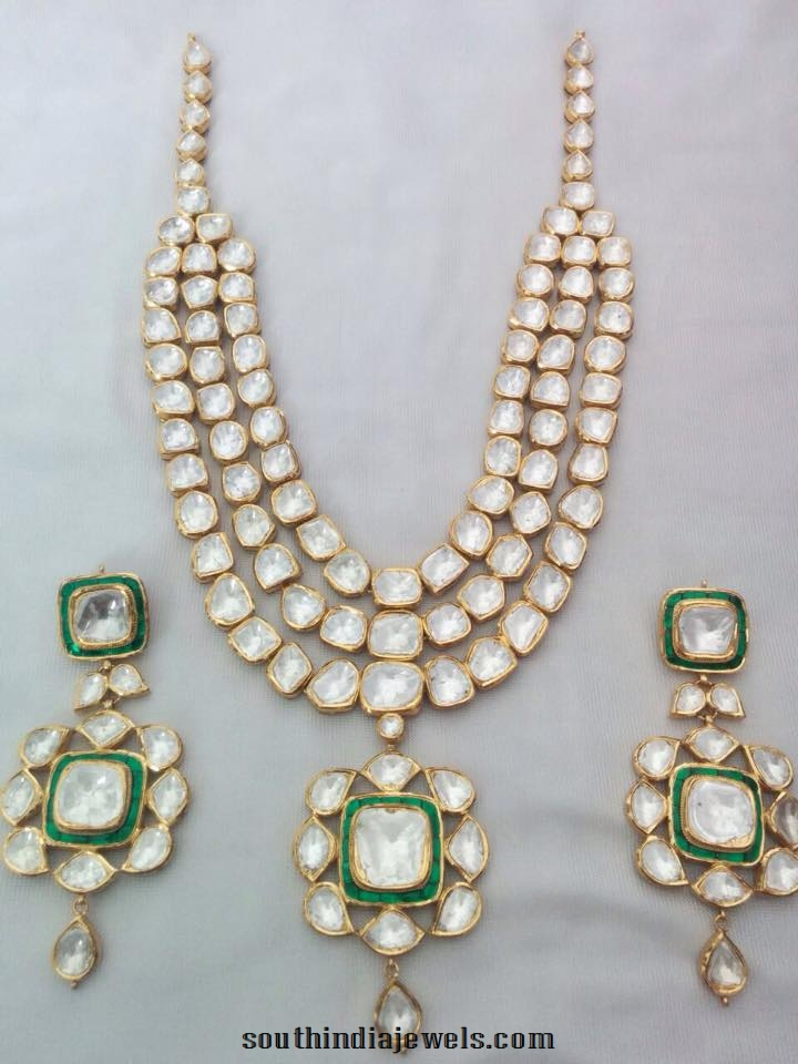 Designer Gold Kundan Necklace From Sri Balaji Jewellers