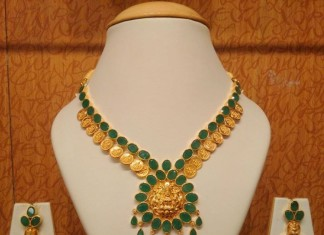 Gold Emerald Kasumalai from NAJ Jewellery